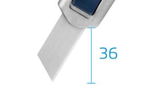 Bezpečnostní nůž  SECUNORM PROFI40 MDP  Velmi velká hloubka řezu