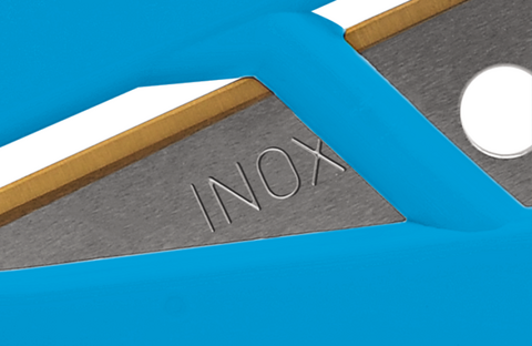 Your cutting tool is fitted with a stainless steel quality blade. The TiN coating ensures that you can cut easily and more effectively for longer with your SECUMAX CARDYCUT.